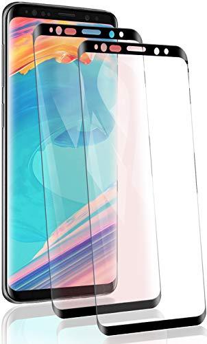 RSSYTZ 【2 Pièces Protection écran pour Samsung Galaxy S9 Plus Verre trempé, 3D Full Coverage Premium Film, 9H Dureté sans Bulles Anti-Rayures Ultra Clair Protection Ecran pour Samsung Galaxy S9 Plus