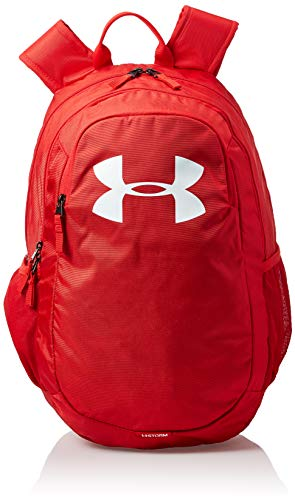 Under Armour UA Scrimmage 2.0 Backpack, mochila unisex, mochila resistente al agua unisex, rojo (Red/Red/White(600)), Taglia unica