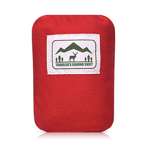 Reliable Outdoor Gear Alfombrilla de Bolsillo - Plegable, Impermeable, 140 Gramos, 1.9 m x 1.27 m - para Acampada, Picnic o Playa (2-4 Personas)