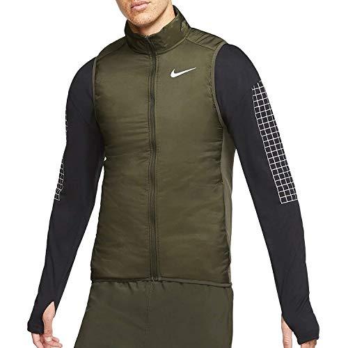 Nike Men's AeroLayer Running Vest SEQUOIA/GREY FOG/REFLECTIVE SILV S