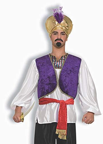Forum Novelties AC769 Prinz der Wüste Hemd mit Weste, Weiß