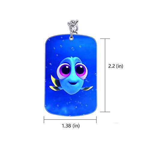 DISNEY COLLECTION Baby Blue Dory Finding Fish Movie Nemo Keychain Silver Handbag Purse Hanging Charms with Carabiner Clip Best Gift for Women Girls Men Husband Wife
