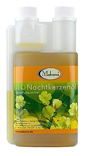 Makana BIO Nachtkerzenöl für Pferde , nativ gepresst, 100% rein, 500 ml Dosierflasche (1 x 0,5 l)