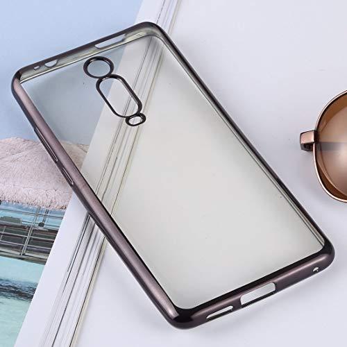 Dmtrab Phone Case para XIAOMI MI 9T / REDMI K20 / K20 Pro Caso, Funda Protectora de protección Protectora Ultra-Delgada TPU TPU (Plata) Tapa de Paquetes (Color : Black)