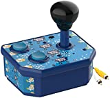 NBCP Handheld Games Console ,Classic Mini Arcade Joystick Plug and Play Built-in 180 TV Video Games for Kids, Children Gift, Birthday Gift (AV Cable) (Mini Handheld) (Blue)