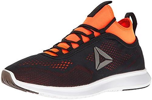 Reebok Men& 039;s Plus Runner tech Running schuhe, Lead Wild Orange Weiß, 8.5 M US
