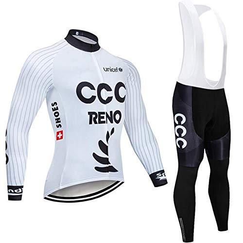 ADKE Hombres Jerseys Pantalones Largos Mangas Largas de Ciclismo Ropa Maillot para...