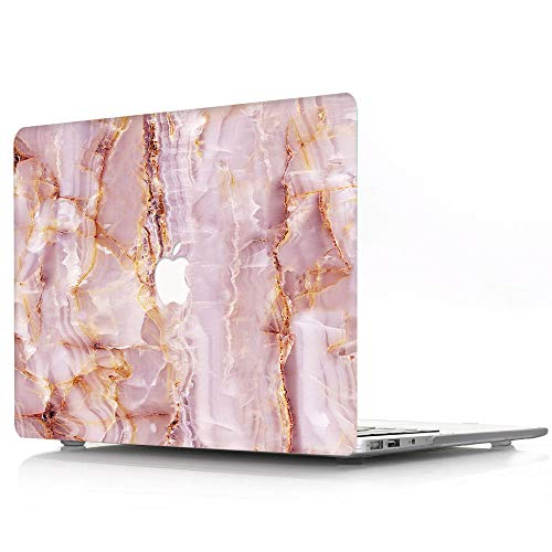 Plastic Hard Shell Cover Case Compatible with MacBook Pro 16 inch with Touch Bar and Touch ID 2019 2020 Release A2141 - Marble Wave