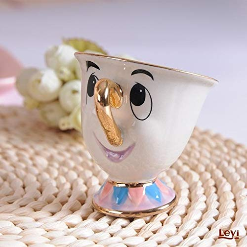 YTG Belleza de la Nueva Historieta y el Don de la Bestia Taza Tetera señora Potts viruta pote del té de la Taza Un Sistema Precioso de la Navidad rápido del Anuncio (Color : 1 Cup and 1 Pot)
