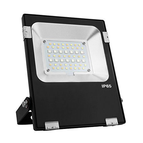 LGIDTECH 20W Mi.Light RGB+CCT 2.4GHz LED Flood Light AC85-265V Color Changing 2700K-6500K Color Temperature Adjustable,Memory Function Remote,Wall Panel,iBox Hub For Smartphone Control Sold Separately