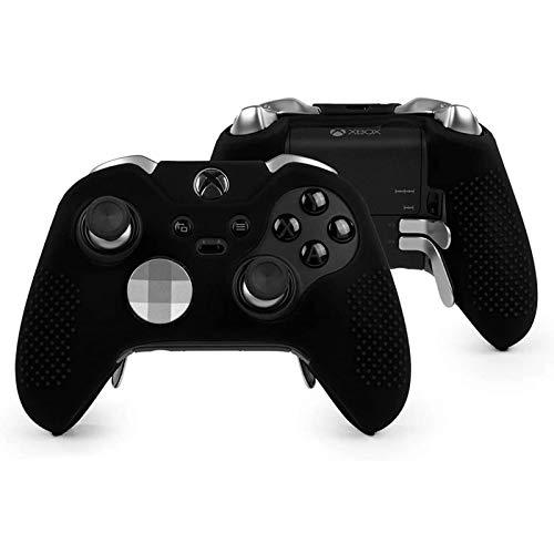 NCONCO Coque de protection en caoutchouc de silicone souple pour manette Microsoft Xbox One Elite Noir