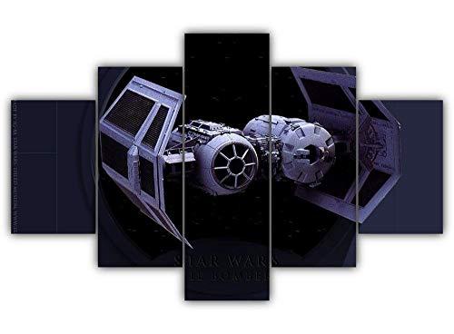 45Tdfc 5 Piezas Lienzo Impresión Arte Pared Lienzo Pintura Tablero Modular Bombardero Tie Imagen Impresión Estilo Moderno Decoración De La Sala De Estar-with