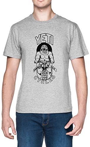 Yeti Cycles Blanca Hombre Camiseta Grey Mens T-Shirt tee