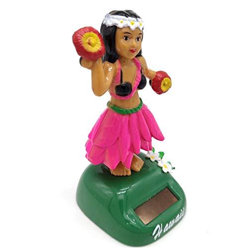 2 Stücke Solar Wackelfiguren Für Auto Hawaii Hula Girl, Solarbetriebenes Spielzeug Dekofigur, Solar Tanzen Ideal Für Die Fensterbank, Auto, Büro, Schreibtisch