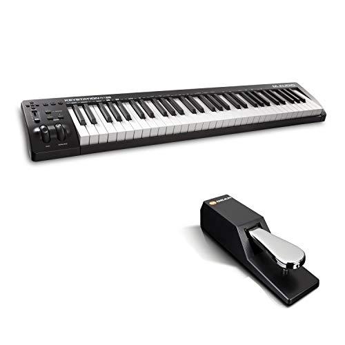 M-Audio Keystation 61MK3 + SP-2 - MIDI Keyboard Controller mit 61 Tasten, zuweisbaren Reglern, Pitch/ Modulation Rädern + Universal Sustain Pedal mit Piano Style Action