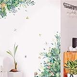 VGFDE Pegatinas de Pared de Hoja Verde extraíble para Sala de Estar Dormitorio Dormitorio Autoadhesivo Refrigerador DIY Vinilos de Pared Vinilo Arte Murales Murales