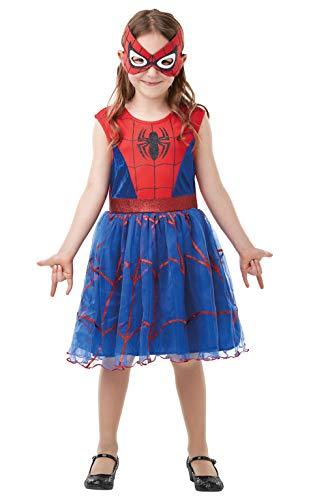 Rubie's, costume ufficiale Marvel Spider-Girl Deluxe, costume da supereroe per bambini, taglia 2-3 anni, altezza 98 cm