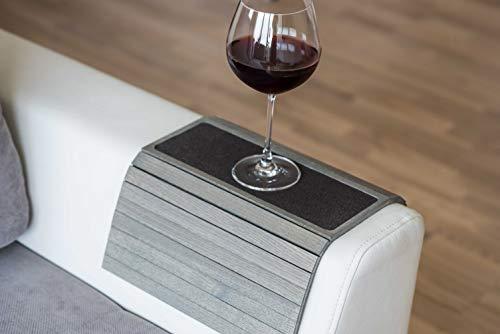 Divano bracciolo tavolino divano vassoio in legno divano tavolino bracciolo divano (nuovo grigio) with fabric