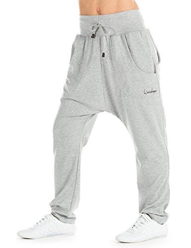 WINSHAPE Damen Unisex 4Pocket Pants WH13 Trainingshose Dance Yoga Pilates Freizeit Sport, Grey-Melange, XS