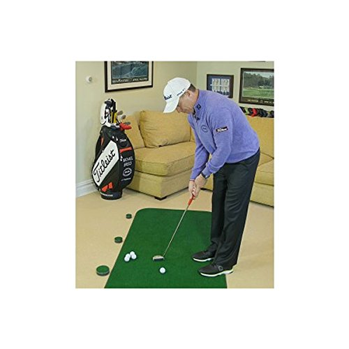 Big Moss Golf COMPETITOR 3' X 9' Practice Putting Chipping Green w/ 3 Cups