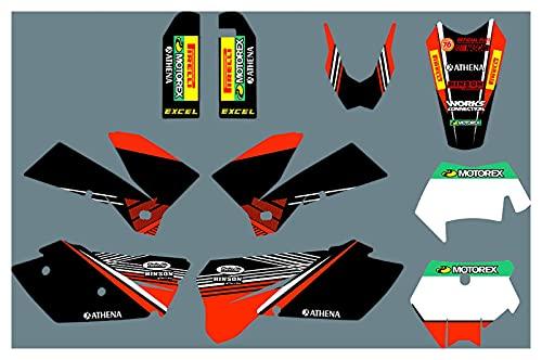 Yhfhaoop DST0270 Calcomanías de Motocicleta 3M Personalizadas Pegatinas Gráficos Gráficos Kit de decancia gráfica para KTM ECC 2005-2007