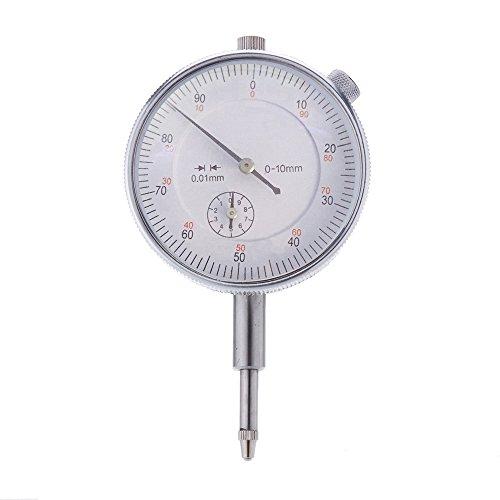 KKmoon Herramienta de precisión 0.01mm Exactitud Instrumento de Medición del dial redondo Indicador Medidor Vertical Contacto
