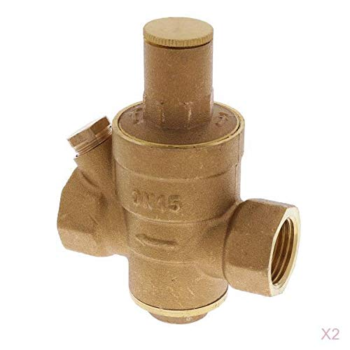Bonarty 2X Wasserdruckregelventil Wasserdruckminderer 1/4