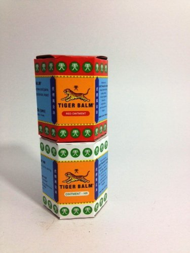 Tiger Balm Red and White Pain Relieving Rub Ointment Joint Muscle Pain Relief 30g