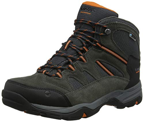 Hi-Tec Banderra II WP Wide, Botas de Senderismo Hombre, Gris (Charcoal/Graphite/Burnt Orange...