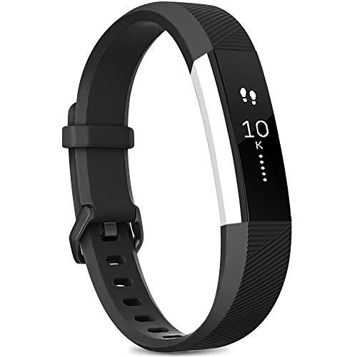 Yandu Cinturino Compatibile per Fitbit Alta HR/Fitbit Alta, Cinturino per Uomo Donne Cinturino Sportivo in Regolabile per Fitbit Alta HR/Fitbit Alta (Senza Orologio) (Nero, S)