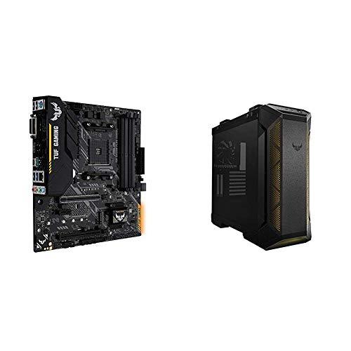 ASUS TUF B450M-PLUS Gaming + Caja TUF GT501 Cristal Templado