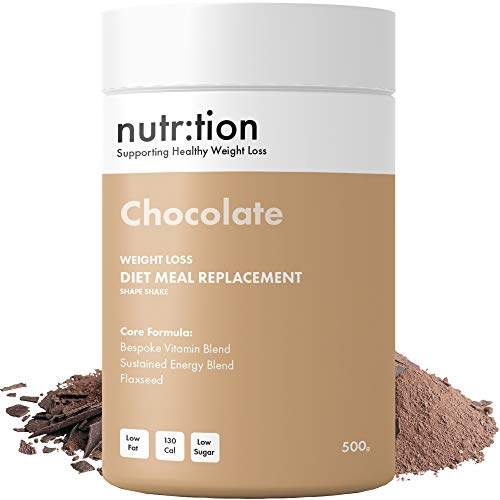 Nutr:Tion Chocolate Meal Replacement Shake - Weight Loss Control & Energy - Unique for Women - High Protein, Low Calorie & Low Sugar - Suitable for Vegetarians - Highest Quality UK Made