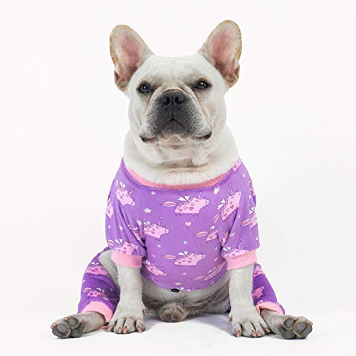 CuteBone Dog Pajamas Medium Sized Dog Clothes Soft Cat Apparel Puppy Pjs Onesies P127M
