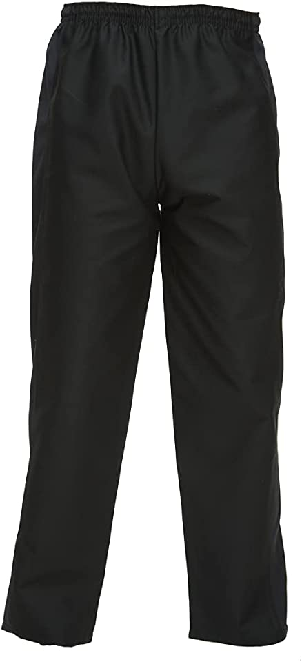 Elasticated Waist Chef Trousers, Men & Womens, Black