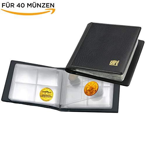 SAFE 227 Taschenmünzalbum - Münzen Sammelalbum Taschen Münzalbum Mini mit 10 Seiten für 40 Münzen bis 38 mm