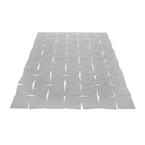 Hey Sign Tiles Teppich, hellgrau meliert Filz 5mm LxBxH 200x140x0,5cm