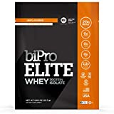 BiPro Elite to-Go 100% Whey Isolate Protein Powder, Unflavored, 12 Single-Serve Packets - NSF...