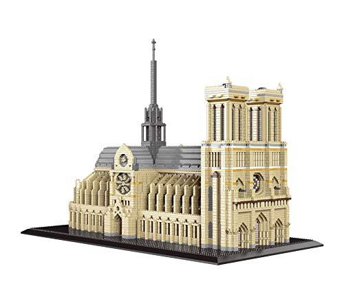 B&H-ERX 7380pcs + France Notre-Dame de Paris Building Blocks célèbre église du Monde 3D Modèle d'architecture Micro Diamant Bricolage Blocs de Jouets pour Les Enfants et Le Cadeau