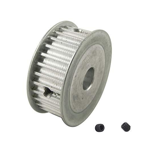 WYanHua-Polea de distribución, Polea de tiempo de 1 UNID 5M 30T, ancho de cinturón de 16 mm 6mm / 6.35mm / 8mm / 10mm / 12mm / 12.7mm / 14mm / 12mm Bore, Rueda de aluminio de tono de 5 mm Transmisión