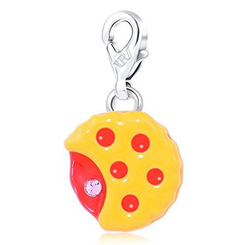 Rizilia Children Jewellery Sale Pie Shape Red Ruby Fashion Charms for Ladies'Bracelet