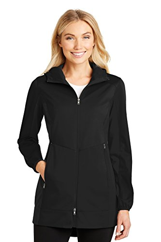 Port Authority Ladies Active Hooded Soft Shell Jacket. L719 Deep Black