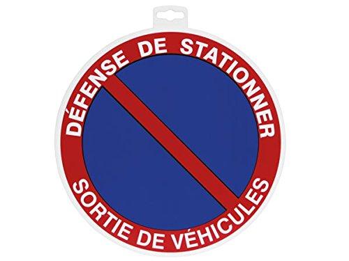 Provence Outillage 07507 Panneau Panneaux de Signalisation Défense de Stationner Bleu 30 cm