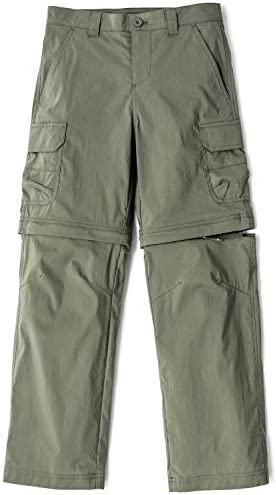 CQR Kids Youth Hiking Cargo Pants UPF 50 Quick Dry Convertible Zip Off Regular Pants Outdoor product image
