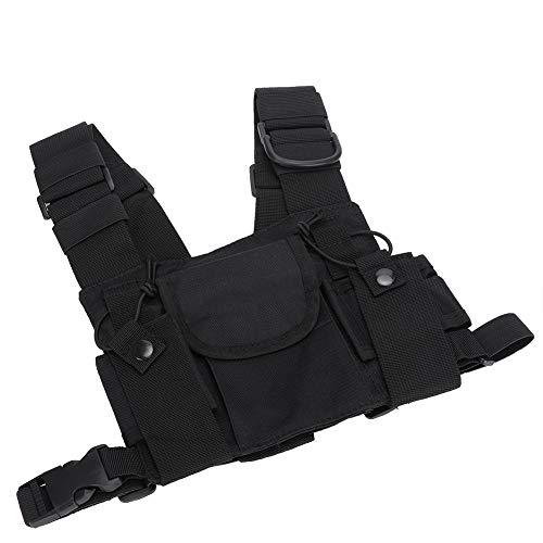 Weikeya Brustgurt-Pack, dauerhafte Brust-Front-Tasche aus Nylon-Schwarz-Nylon -25 ° C ~ 55 ° C für Brandbekämpfung und Militär