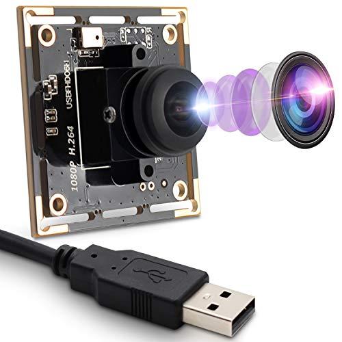 Módulo de cámara USB 1080P, 2 MP, Webcam con IM2MP, módulo de cámara USB 1080P, Lente Ojo de pez de 180 Grados, Gran Angular, cámara Web HD, 0,01 Lux, módulo de cámara Mini USB