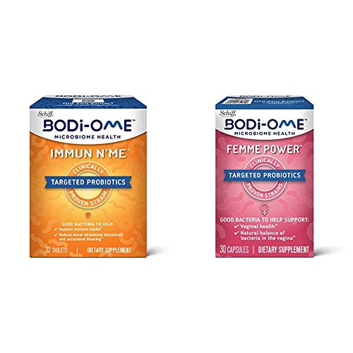 Probiotic Capsules, Bodi-Ome Immune N'Me (32 Count in a Box) with Probiotic Capsules, Bodi-Ome Femme Power (30 Count in a Box)