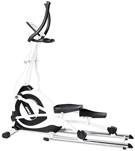SportPlus Crosstrainer Ellipsentrainer Ergometer mit APP Steuerung + Google Street View, 19 kg Schwungmasse, 5,5´Farbdiplay, int. Tablethalterung, Benutzergewicht bis 130,0 kg