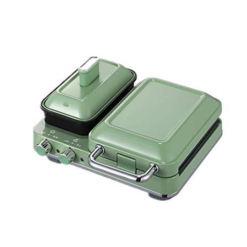 Máquina de desayuno del fabricante de sándwiches, fabricante de alimentos multifuncionales para el hogar Fabricante de waffle Maker de calefacción multifuncional Tostador de prensa de tostadas, adecua