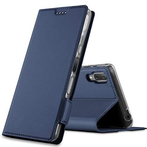 GEEMAI für Sony Xperia L3 Hülle, handyhüllen Flip Hülle Wallet Stylish mit Standfunktion & Magnetisch PU Tasche Schutzhülle passt für Sony Xperia L3 Smartphone, Blau