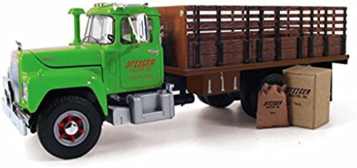 1 34 Mack R-Model Stake Truck with Load by First Gear